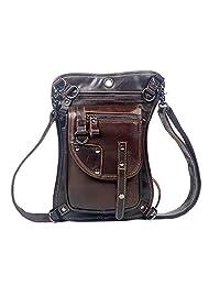 Genda 2Archer Genuine Leather Travel Belt Hip Bum Bag Waist Bag Leg Bag