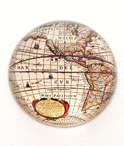 Amazon glass dome vintage world map paper weightpaperweight glass dome vintage world map paper weightpaperweight gumiabroncs Gallery