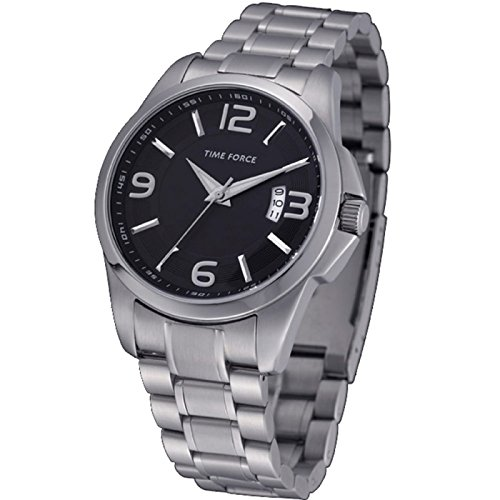 Time Force TF4019M01M - Reloj analógico de caballero con calendario - Acero inoxidable: Amazon.es: Relojes