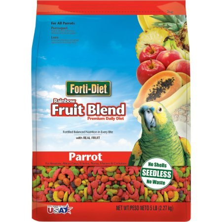 FORTI-DIET Rainbow Fruit Parrot Food 5 lb