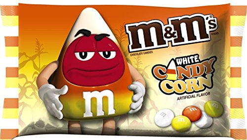 M&M's Candy Corn White Chocolate Candies 8 OZ Bag - Pack of 4 (Candy Frankenstein)