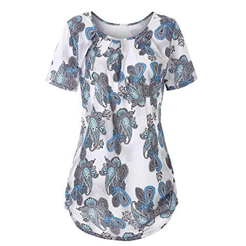 ba2de4aab67 Oksale Baby Girl s Short Sleeve O-Neck Floral Tops T-Shirt Blouse Vintage  Tee
