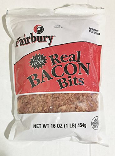 16oz Fairbury Real Bacon Bits, Fully Cooked (Pack of 1)