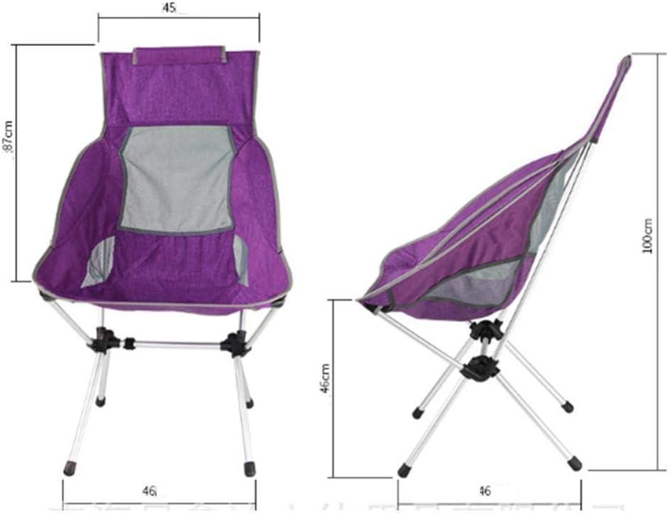 Chaise Pliante Ultra-l/ég/ère en Alliage daluminium adapt/é pour la Plage de p/êche de Pique-Nique Dayuan Chaise de Camping en Plein air Fauteuil inclinable sur/élev/é avec Dossier