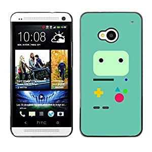 HTC One M7 - Metal de aluminio y de plástico duro Caja del teléfono - Negro - Minimalist Gaming Controller