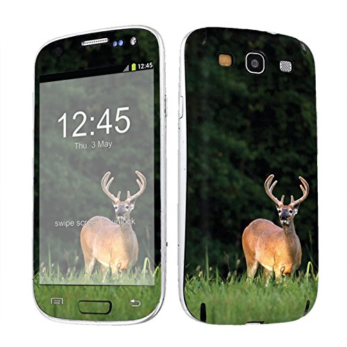 Galaxy S3 Skin [NakedShield] Scratch Guard Vinyl Skin Decal [Full Body Edge] [Matching WallPaper] - [Deer Hunting] for Samsung Galaxy S3 [SSi9300]