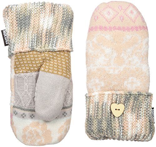 Muk Luks Women's Rustic Romance Potholder Mittens-Whimsical, Light Pink, One Size