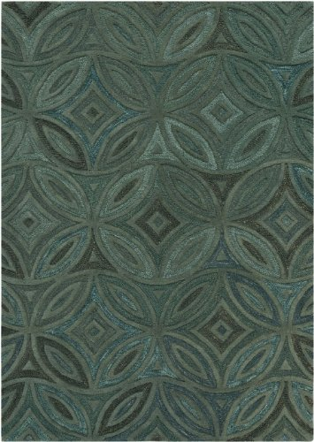 Surya Contemporary Rectangle Area Rug 5'x8' Laurel Green, Slate Gray Perspective Collection