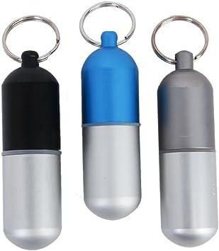 Pilulier Bo/îte de Pilules Imperm/éable Porte-cl/és en Alliage dAluminium Noir S