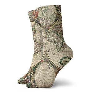 Abfind Mapamundi clásico calcetines de la novedad calcetines atléticos medias 30 cm