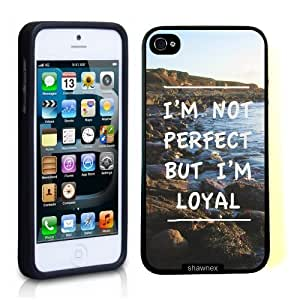 Case For Ipod Touch 5 Cover Thinshell Case Protective Case For Ipod Touch 5 Cover Im Not Perfect But Loyal Quote