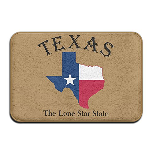 Fuucc-6 Inside & Outside Entrance Custom Doormat Texas Lone Star State Design Pattern For ()