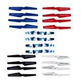 5 Colors(20 pcs) Drone Spare Parts Main Blade Props Propellers Compatible for SYMA X5 X5C X5C-1 X5SC X5SW RC Mini Quadcopter Toy