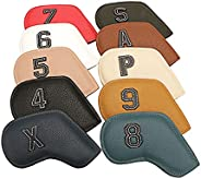 TOOYFUL Pack of 10 Deluxe Golf Iron Headcover Set Kit for Protection, Outdoor Golf Club Head Cover Stick Head