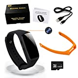 16GB Bracelet Wearable Hidden Spy Camera - Anviker 1080P Wirstband Mini Spy Camera Video Audio Recording Kit