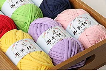 Amazon.com: Zituop DIY Crochet Cloth T Shirt Yarn for Hand Knitting Rugs Basket, 100g, 0.22Lb (Light Green)