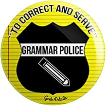 Geek Details Grammar Themed Pinback Button