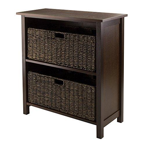 Granville Storage Shelf - Winsome Granville 3-Piece Storage Shelf with 2-Foldable Baskets