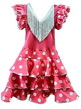 Vestido andaluza rosa para niña - Único, 24 meses