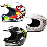 Leopard LEO-X18 Children Motorbike Crash Helmet MONSTER KIDS Motocross BMX Dirt Bike ATV Helmet M
