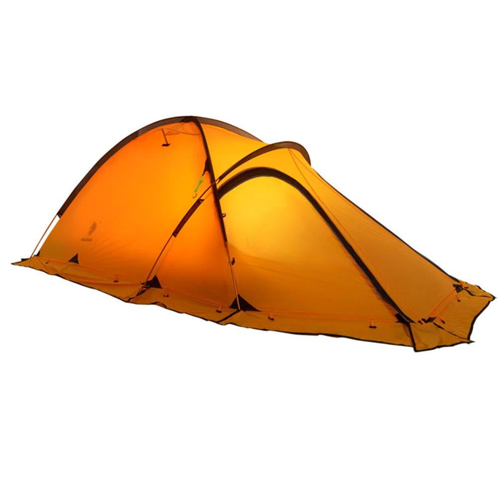 HHMGYH 2 Person 3-4 Staffel Outdoor Zelt-Leichtgewicht wasserdicht Doppel-Ebenen-Backpacker-Zelt für Camping Wandern Klettern Reisen,B