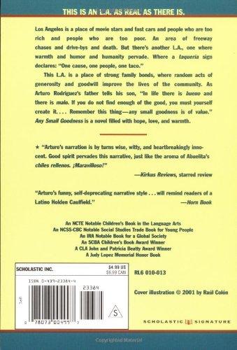 Any Small Goodness: A Novel of the Barrio: Tony Johnston