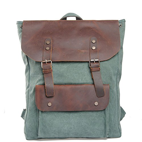 Hundred de unisexe Randonnée dos Match Sac Lake en double air College Uk à dos toile fille cuir plein sac de à pour Sac à Sacs loisirs bandoulière Daypacks Green en Camping H15fHarwq