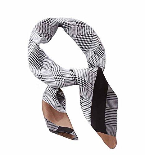 Square Silk Scarf Women's Fashion Silk Headscarf Neckerchief Neck Tie (A)