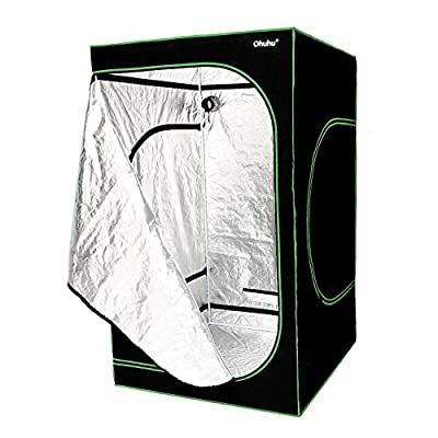 "Ohuhu 48""x48""x80"" Mylar Hydroponic Plant Growing Tent for Indoor Gardening and Germination"