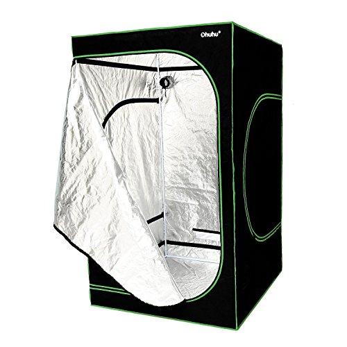 Ohuhu Grow Tent, 48''x 48''x 80'' Mylar Hydroponic Plant Growing Tent for Indoor Gardening and Germination by Ohuhu