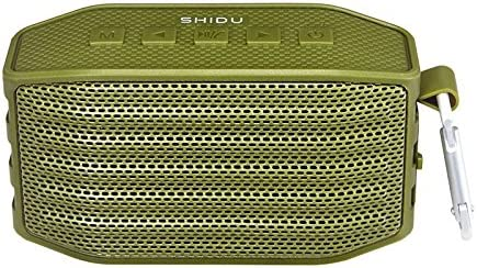SHIDU P2 Portable Outdoor Bluetooth Speaker, Dual-Drive Wireless Speaker with Richer Bass, Built-in Microphone, Hands Free Calling, Waterproof Shockproof Dustproof Durable for Pool Party, Beach-Green