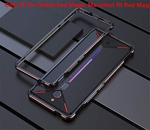 Nubia Red Magic Mars Metal Bumper,DAYJOY Dual Color Arc Style Aurora Series Ultra Slim Premium Aluminum Metal Protective Bumper Frame Case with for ZTE Nubia Red Magic Mars(Black RED) ()