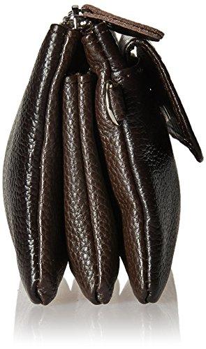 Card Strap Shoulder Coffee Slots Leather Clutch Wristlet Befen Smartphone Wrist Strap Crossbody with Wallet 0nq6gwSUxv