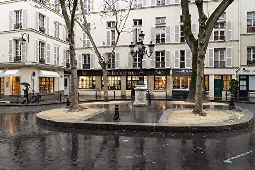 Paris, Photography, Place Furstembourg, Furstenbourg, Saint-Germain-des-Pres, boutiques, shops, charm, square, picturesque, courtyard, France, Europe, Art Print, Wall Art, Gift, Decor, Photo