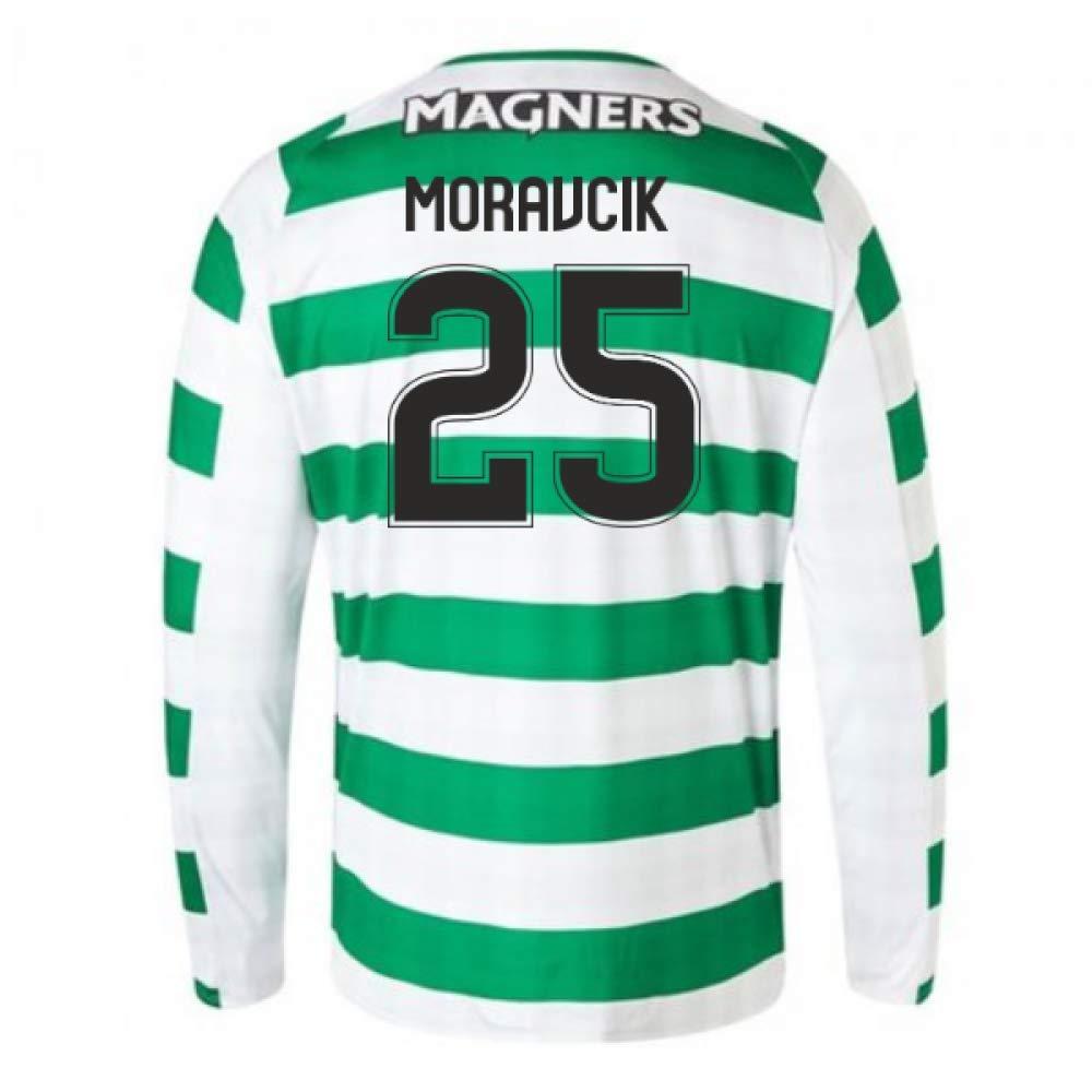 2018-2019 Celtic Home Long Sleeve Football Soccer T-Shirt Trikot (Lubo Moravcik 25)