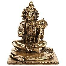 """Hanuman Statue Brass Sculpture 7.5"""""""