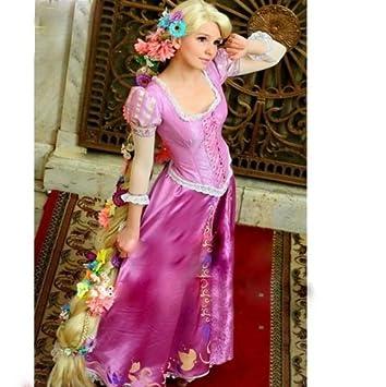 Se entrega en tres piezas conjunto Disney Rapunzel peluca a (140 cm