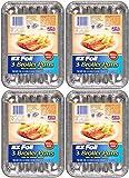 """EZ Foil Broiler Pans, 9"""" x 6.25"""" x .75"""", 12 Pack"""