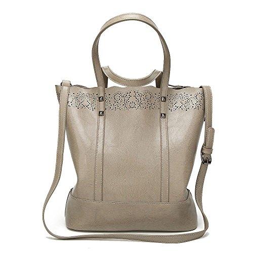 Wild Fashion Shoulder Zllnsxkb Capacidad Grey Casual Mochila Bags Crossbody Bolso Para Mano Alta Mujeres De 8xzwqR08