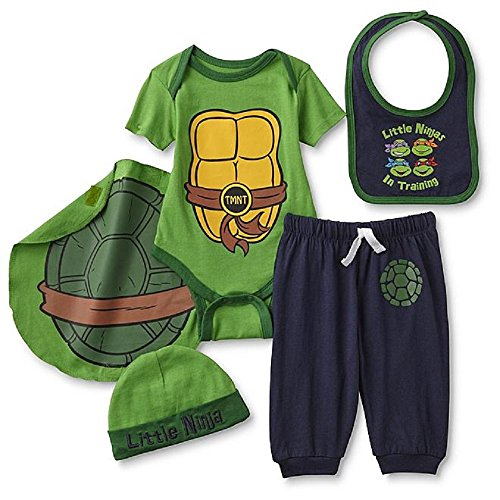 Ninja Turtles Baby Costumes (Teenage Mutant Ninja Turtles Baby Boy's Costume Bodysuit Set 0-6 Months)