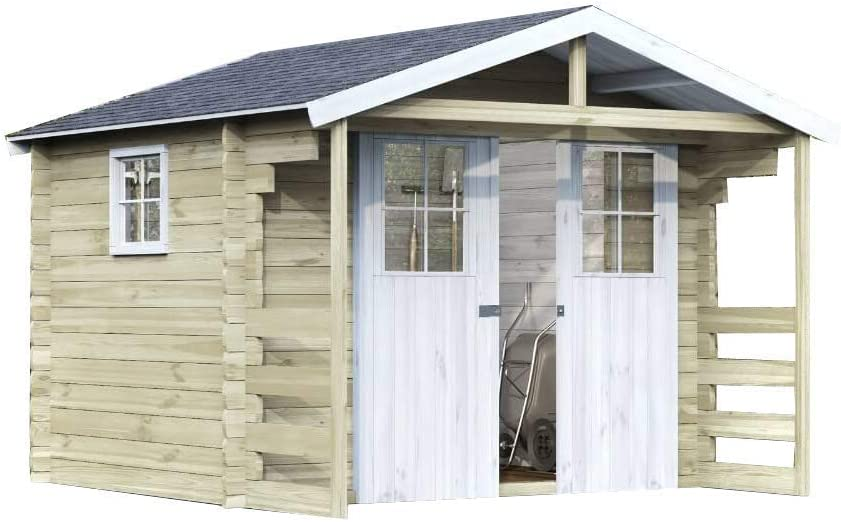 Alpholz - Cobertizo para jardín (madera de abeto, 300 x 240 cm ...