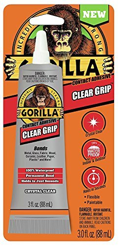 Gorilla 8040001 Clear Grip Contact Adhesive, 3 Oz., Clear (2 pack)