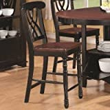 crate and barrel step stools Counter Height Chair in Black and Cherry by Coaster Furniture