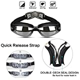 Hurdilen Swim Goggles, Pack of 2, Swimming Goggles for Adult Men Women Youth Kids Child,With Mirrored & Clear Anti-Fog, UV 400 Protection Lenses
