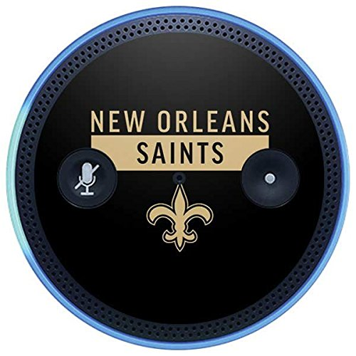 Skinit NFL New Orleans Saints Amazon Echo Plus Skin - New Orleans Saints Black Performance Series Design - Ultra Thin, Lightweight Vinyl Decal Protection