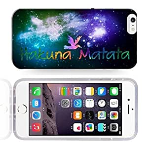 Africa Ancient Proverb HAKUNA MATATA Color Accelerating Universe Star Design Pattern HD Durable Hard Plastic Case Cover for iPhone 6 hjbrhga1544