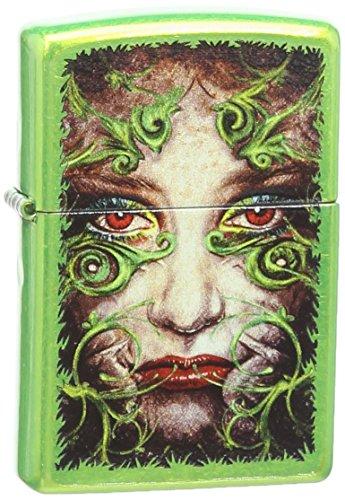 - Zippo Filigree Face Design Pocket Lighter, Lurid