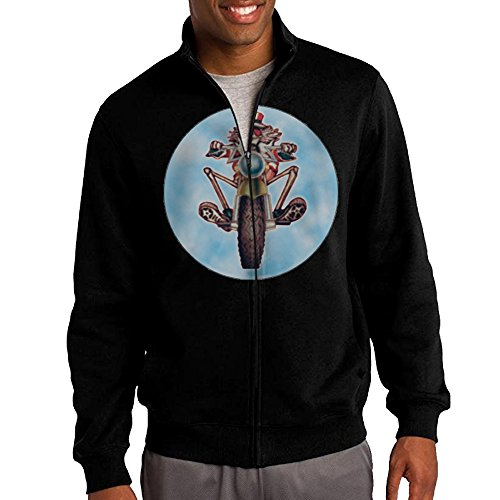 Jacob Men's Sweatshirt Dead Skull Head Full-zip Hoodie Jacket L (Odyssey Contemporary Wall)