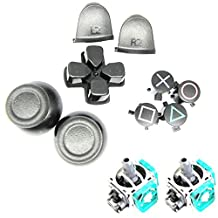 Yuntown Replacement Parts Thumbsticks Buttons Set and 3D Joystick for PS4 Controller Dualshock 4 ( Pack of 11 )