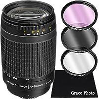 Nikon AF Zoom-NIKKOR 70-300mm f/4-5.6G Lens Bundle for Nikon DSLR Cameras (White Box)